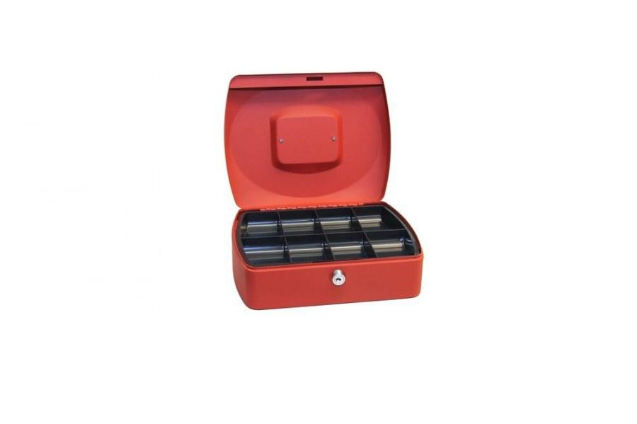 Pokladnička ocelová  TS.0120.C (B) červená