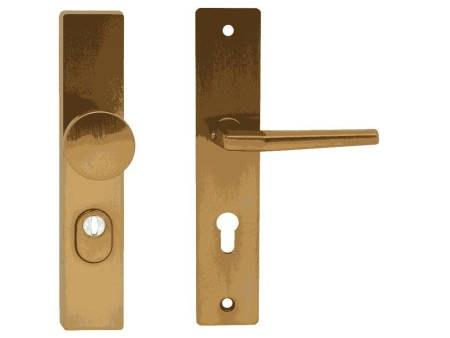 Kování bezpečnostní HEROLD na vložku levá - pravá bronzový elox klika - knoflík