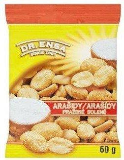 Arašídy pražené solené 60 g  Dr.Ensa