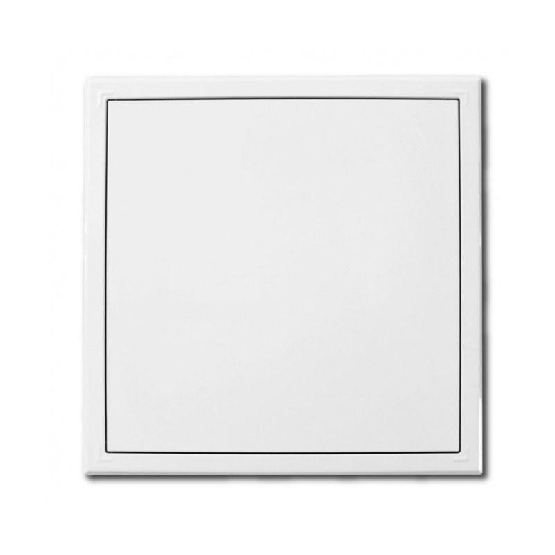 Dvířka revizní 150 x 150 kovová s tlačným zámkem bílá