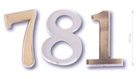 "Číslice - lomítko ,, / "", výška 10 cm, matný nikl ONS"