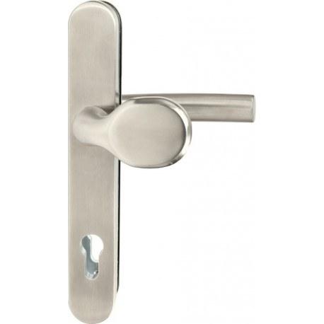 Kování bezpečnostní R.801.PZ.92.N.TB3, madlo/klika, na vložku, bez překrytí, 92 mm, nerez