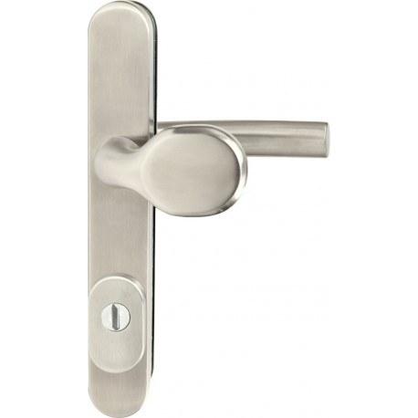 Kování bezpečnostní R.801.ZB.92.N.TB3, madlo/klika, na vložku, s překrytím, 92 mm, nerez