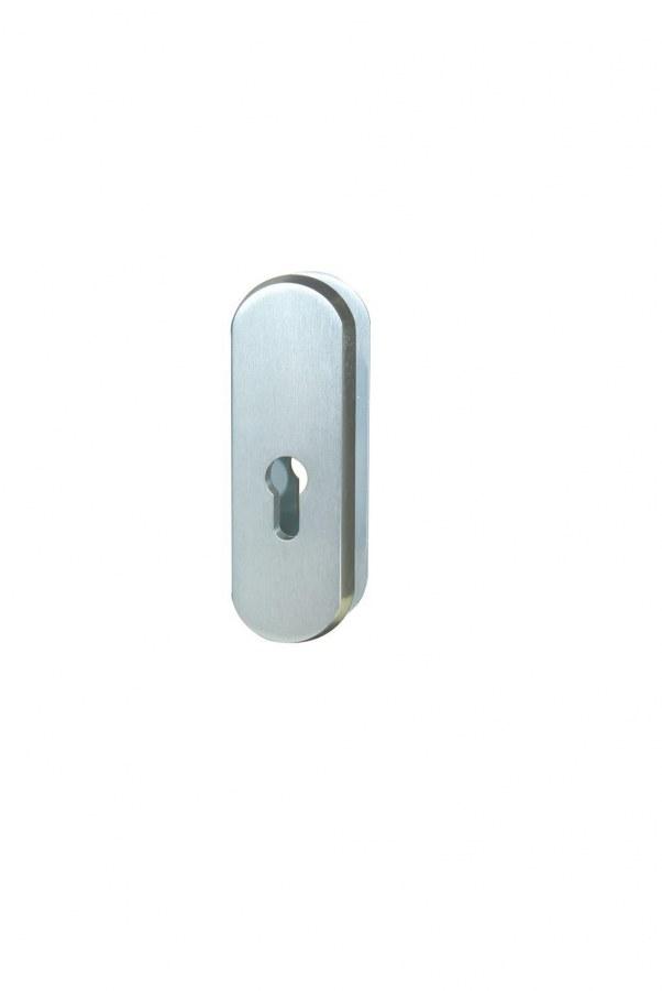 Kování bezpečnostní přídavné R.103.PZ.F9, rozeta, na vložku, bez překrytí, imitace nerezu
