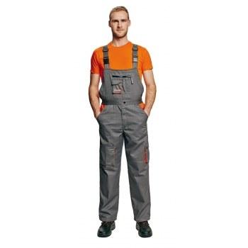 Kalhoty DESMAN lacl šedooranžové,  velikost 54
