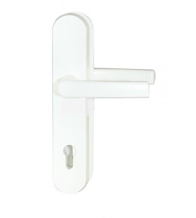 Kování bezpečnostní R.111.PZ.92.F9016.TB3, klika/klika, na vložku, bez překrytí, 92 mm, bílá