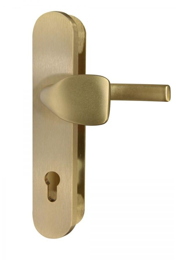 Kování bezpečnostní RC.101.PZ.90.F4.TB2, madlo/klika, na vložku, bez překrytí, 90 mm, bronzový elox