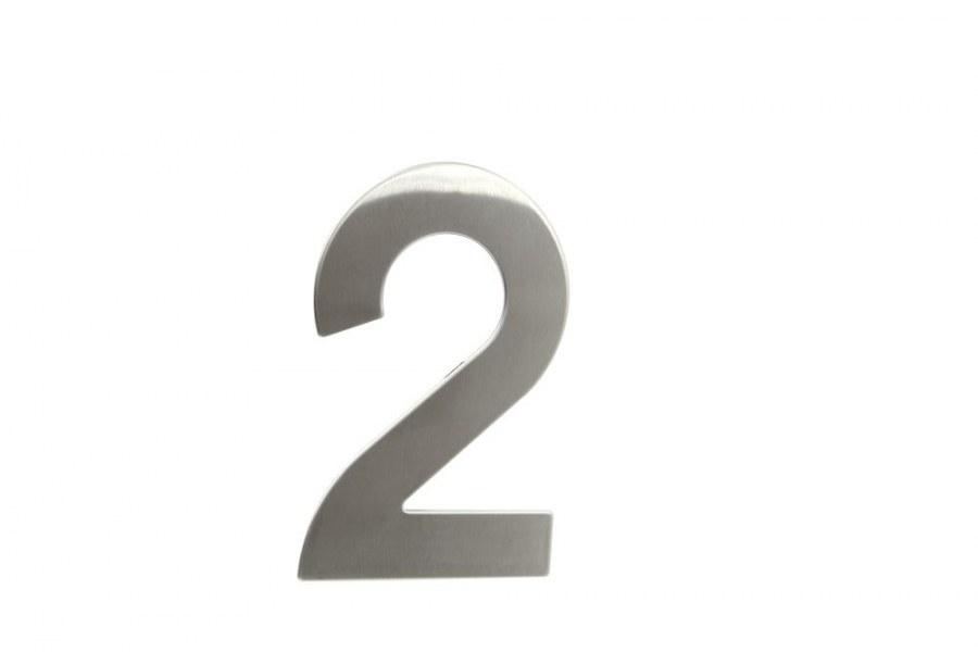 """Číslice domovní """"2"""" RN.145V.2.N, nerez  (RJCD2N)"""