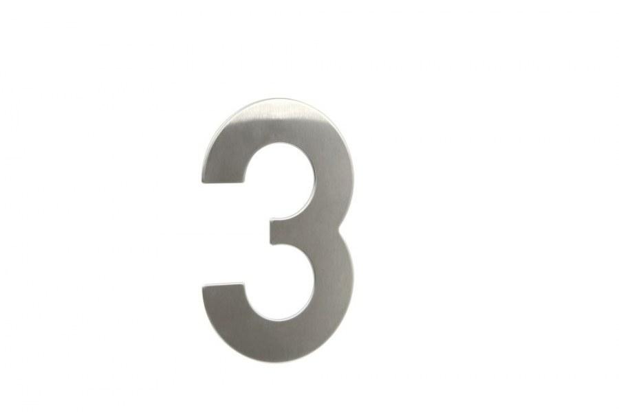 """Číslice domovní """"3 """" RN.145V.3.N, nerez  (RJCD3N)"""
