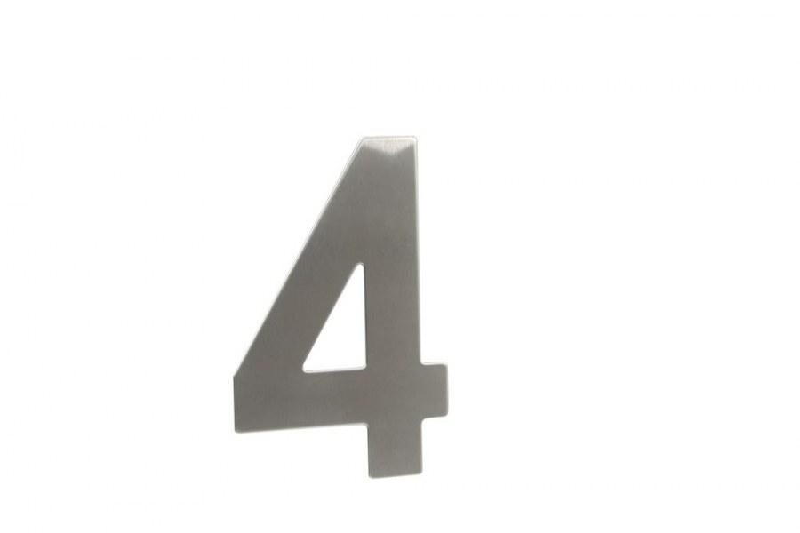 """Číslice domovní """"4"""" RN.145V.4.N, nerez  (RJCD4N)"""
