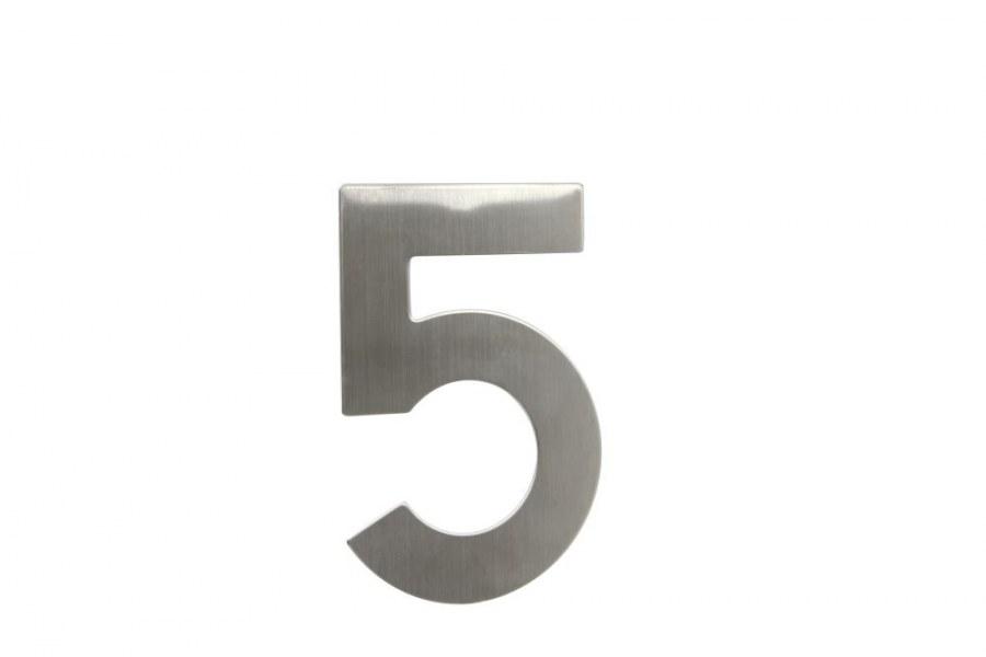"""Číslice domovní """"5"""" RN.145V.5.N, nerez  (RJCD5N)"""