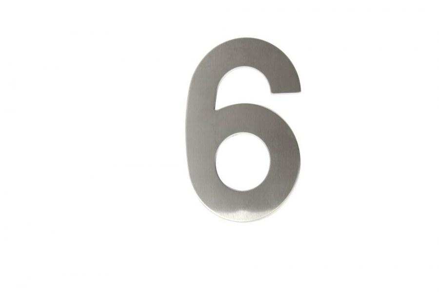 """Číslice domovní """"6"""" RN.145V.6.N, nerez  (RJCD6N)"""