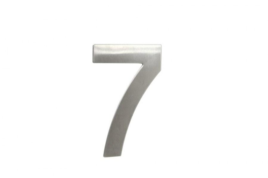"""Číslice domovní """"7"""" RN.145V.7.N, nerez  (RJCD7N)"""