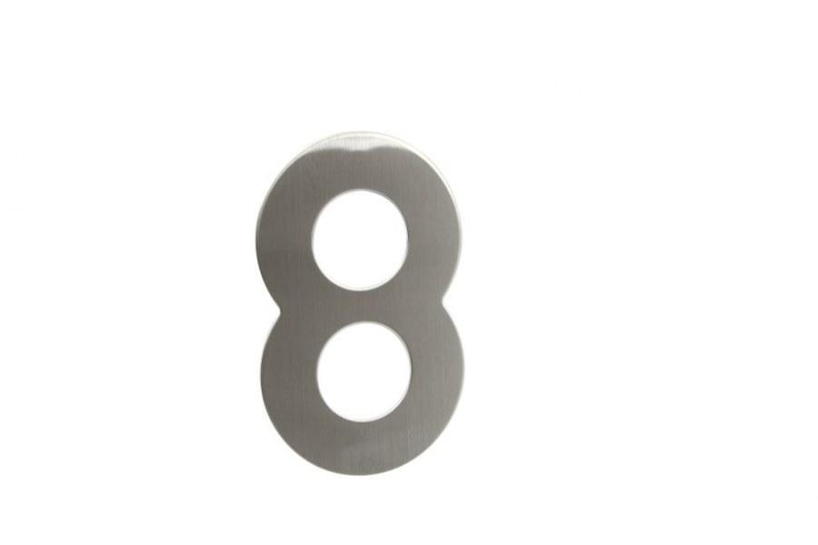 """Číslice domovní """"8"""" RN.145V.8.N, nerez  (RJCD8N)"""