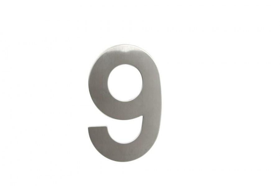 """Číslice domovní """"9"""" RN.145V.9.N, nerez  (RJCD9N)"""