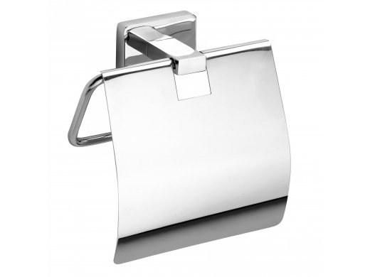Držák toaletního papíru s krytem - chrom