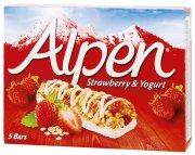 Alpen tyčinky Jahody a jogurt 5 x 29 g