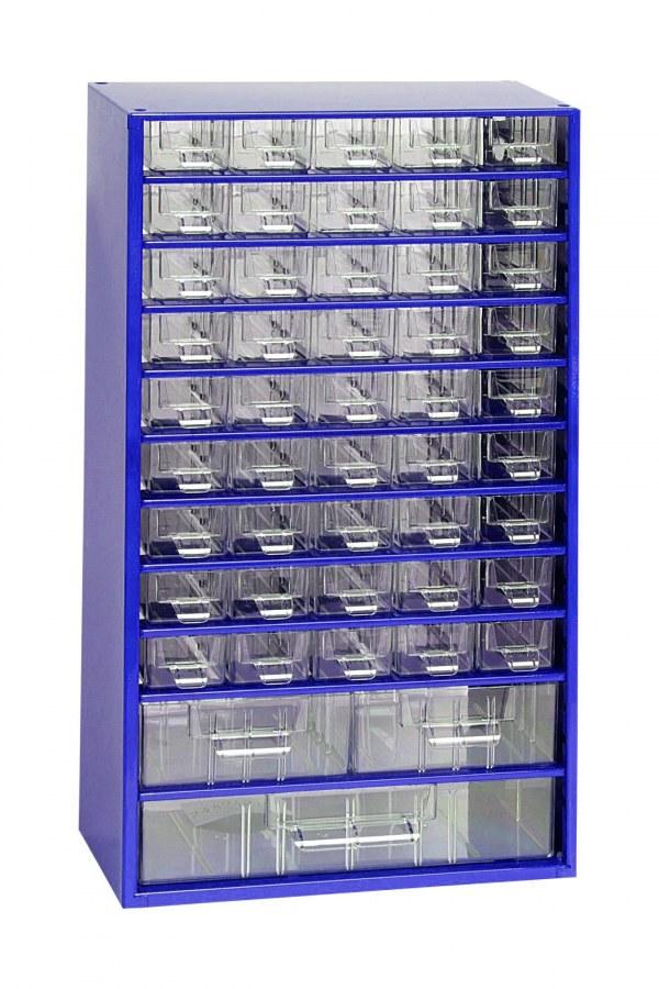 Skříňka 45 x A, 2 x B, 1 x C modrá  (MA6744MO)