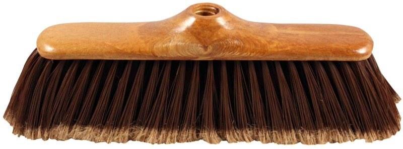Smeták imitace dřeva, hrubý závit, 25 x 5 cm, chlup 8 cm, bez násady