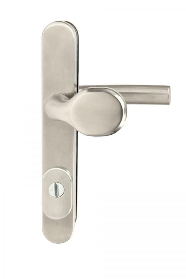 Kování bezpečnostní R.801.ZB.92.N.TB3, madlo/klika, na vložku, s překrytím, 92 mm, nerez RJ01020021
