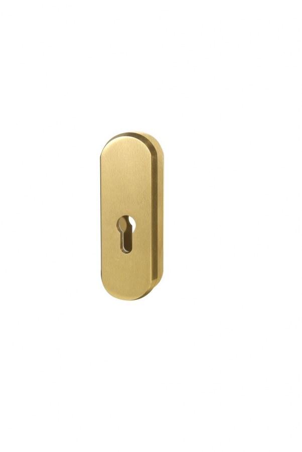 Kování bezpečnostní přídavné R.103.PZ.F4, rozeta, na vložku, bez překrytí, bronzový elox