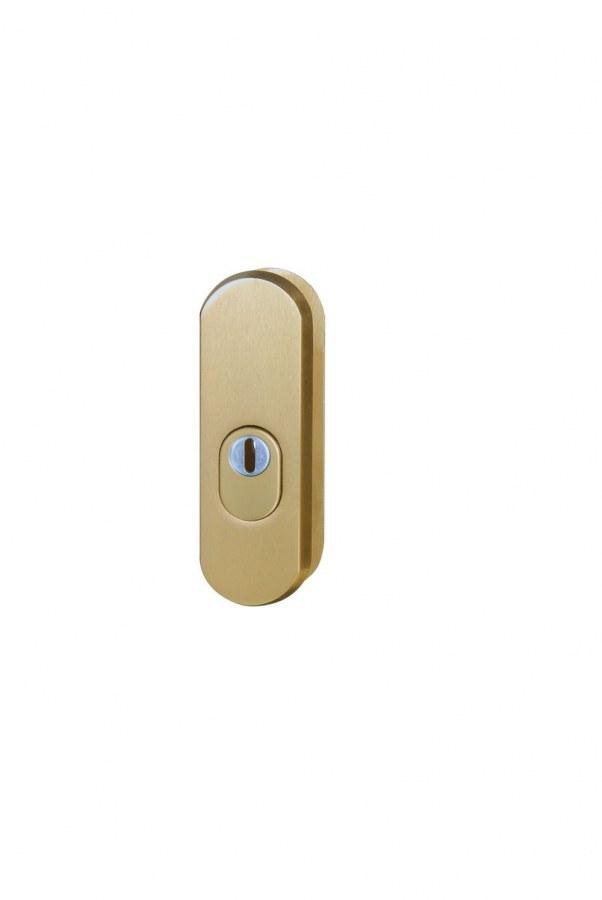 Kování bezpečnostní přídavné R.103.ZA.F4, rozeta, na vložku, s překrytím, bronzový elox