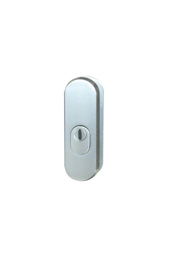 Kování bezpečnostní přídavné R.103.ZA.F9, rozeta, na vložku, s překrytím, imitace nerezu