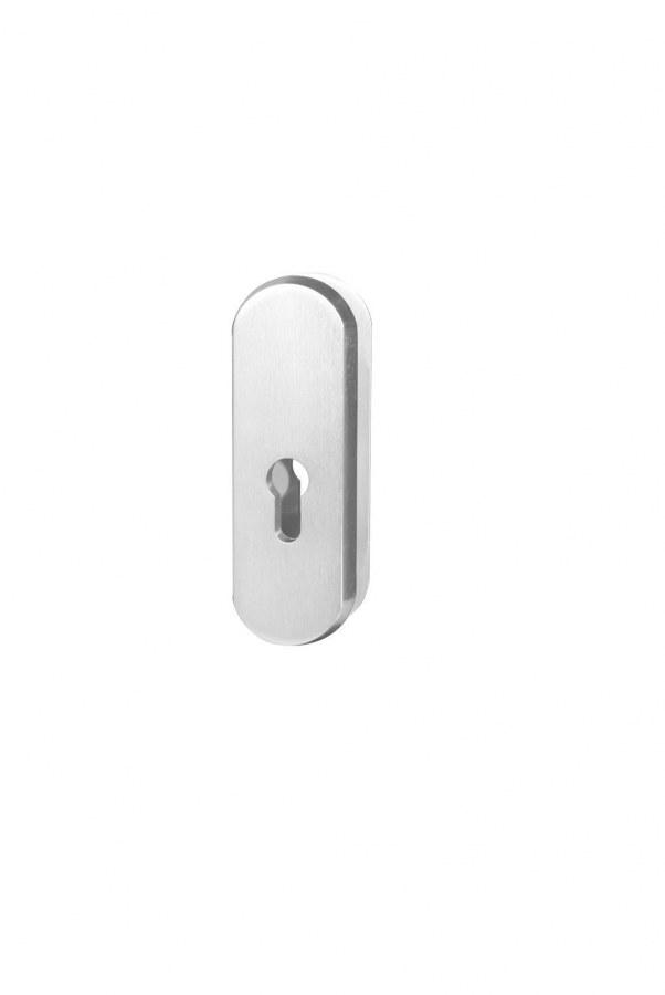Kování bezpečnostní přídavné R.103.PZ.F1, rozeta, na vložku, bez překrytí, stříbrný elox (RJ01010077