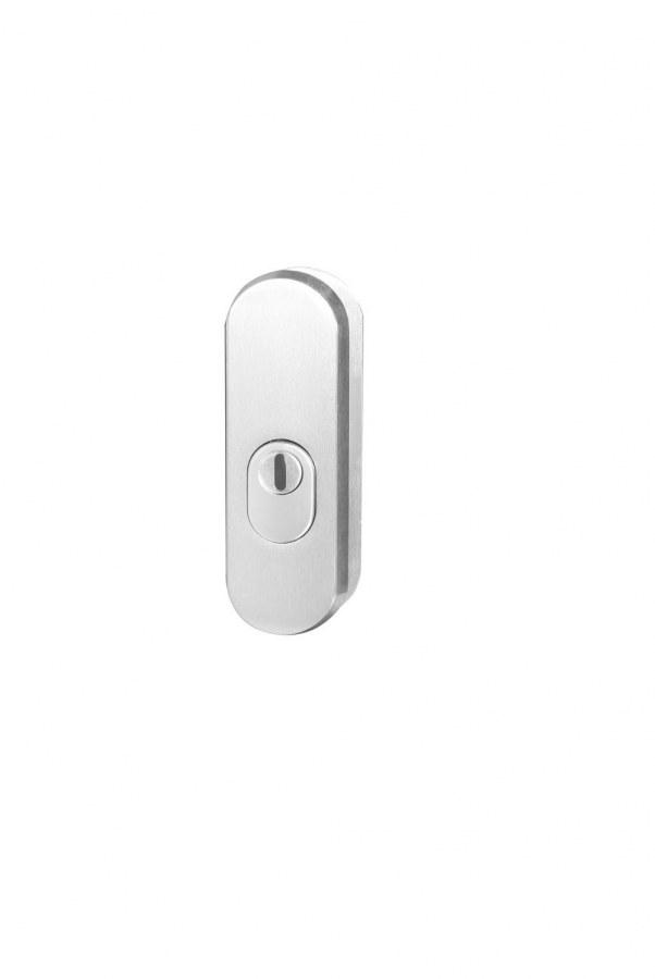 Kování bezpečnostní přídavné R.103.ZA.F1, rozeta, na vložku, s překrytím, stříbrný elox (RJ01010081)