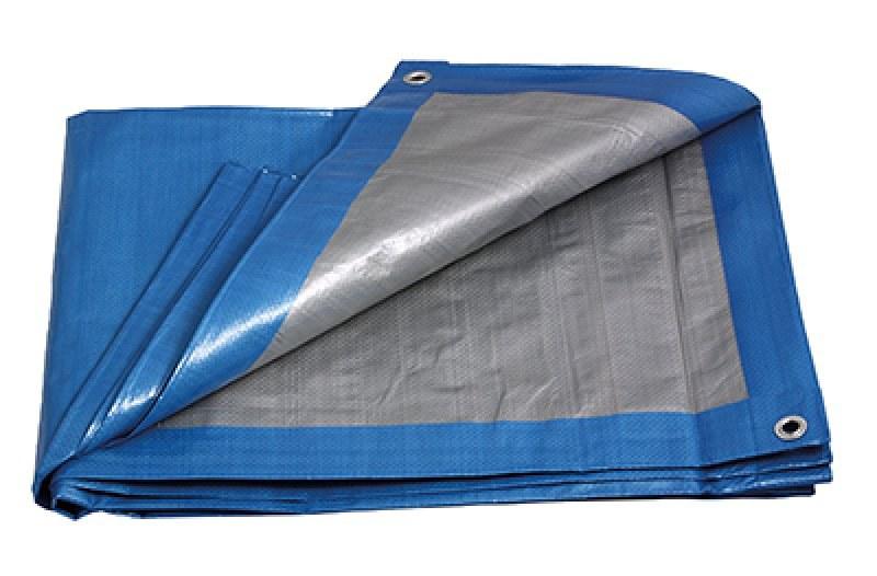 Plachta PE zakrývací PROFI 8x12m 140g/1m2 modro-stříbrná